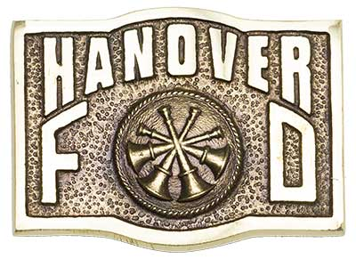 hanover deputy chief chain of command firefighter belt buckle