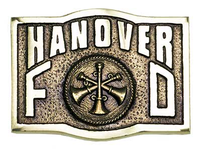 hanover assistant chief chain of command firefighter belt buckle