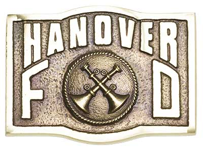 hanover battalion chief chain of command firefighter belt buckle