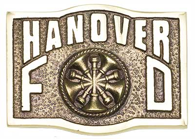 hanover chief chain of command firefighter belt buckle
