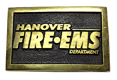 firefighter buckle made for Hanover County Virginia