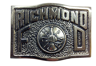 firefigher buckle for City of Richmond VA