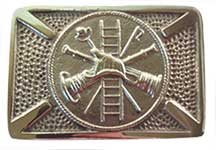 silver chain of command firefighter belt buckle
